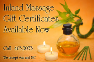 Massage Gift Certificates