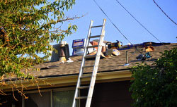 Roofing a house in Minnesota