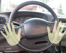 Driving Hands Position Example